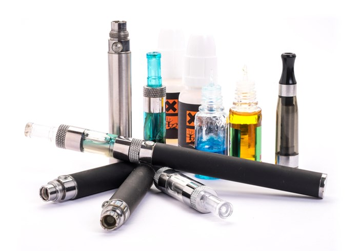 Several different electronic cigarette vaporiser devices
