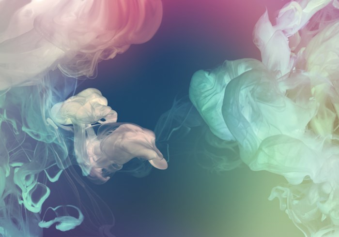 Acrylic colors in water appearing like smoke