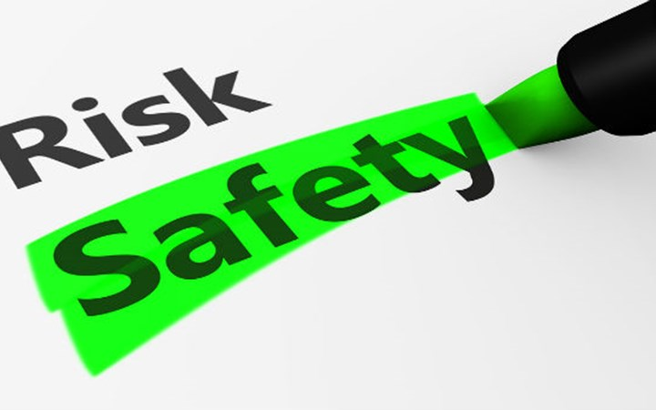 "The wrods ""risk"" and ""saftey"" with safety highlighted"