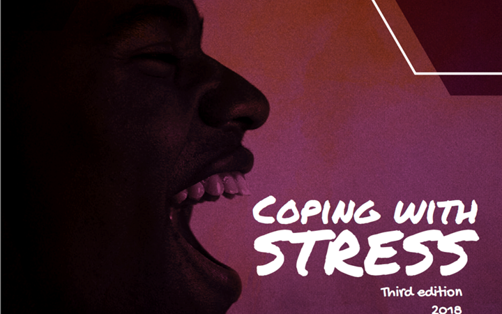 Coping with stress resource cover of a man screaming
