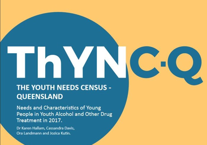 The youth needs census - Queensland